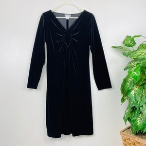 Motherhood Velvet Long Sleeve Dress